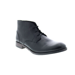 Clarks Flow Top 26143656 Mens Black Leather Lace Up Chukkas Boots 7.5