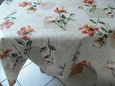 Tischdecke Wachstuch rund 160cm, Blumen  Abwaschbar