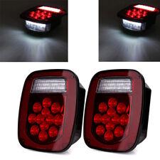 Universal 2PCS Truck 39 LED Stud Mount Combination Stop Turn Tail Light