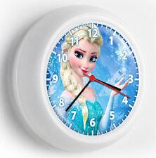 DISNEY FROZEN PRINCESS ELSA ICE SNOW QUEEN WALL CLOCK KIDS BEDROOM GIRLS TV ROOM