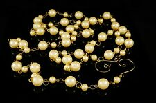 Beaded Ivory Pearl Garland Holiday Christmas Floral Wedding Event Decor