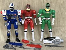 Power Rangers Turbo Swinging Action Red Green Blue Senturion Bandai