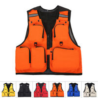 Mens Multi-Pocket Sports Fishing Hunting Utility Vest Waistcoat Jacket L/XL-3XL