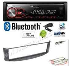 Pioneer MVH-390BT autoradio USB / bluetooth + Kit montaggio per Smart ForTwo gr