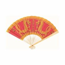 Chinese New Year Oriental Party Supplies - Wooden and Paper Decorative Fan 23cm