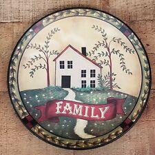 "Decorative Plate Family Cottage Southern Decorative Stoneware Ceramic 9.5"""