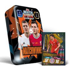 2020/21 Match Attax UEFA Mega Tin Match Winners inc Lewandowski Gold Limited