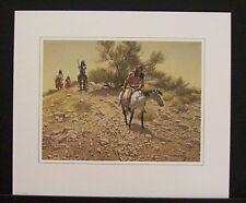 "Frank McCarthy Limited Edition Print ""Apache Trackers"" w/Original Folder"