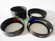 58mm standard telephoto wide angle vented curved metal lens hood kit set 4pcs