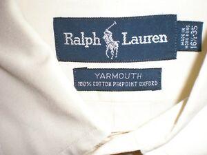 Mens Polo Ralph Lauren Yellow Long Sleeve Shirt - 16 1/2 ~ 35 ~ Yarmouth
