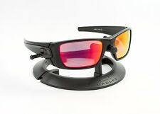 OAKLEY FUEL CELL POLISHED BLACK FRAME / REVANT FIRE RED POLARIZED CUSTOM LENSES