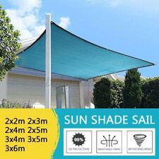 Sun Shade Sail Sunshade Patio Outdoor Canopy Awning Net UV Block Top Cover