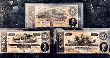 1864 Confederate Notes 🌟Collected Set🌟$5, $10, $20 Authentic Notesno Reserve