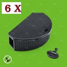 6 x Temper BAIT STATION with Lockable with key - mice mouse Safe child pet
