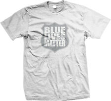 Blue Lives Matter Shield- Support Police Officers Cops Mens T-shirt