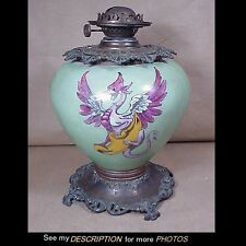 Antique GWTW Gone With The Wind Kerosene Lamp Base Winged GRIFFIN