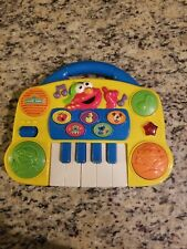 Vintage Tyco Sesame Street Elmo Toy Keyboard Sounds Lights Drums DJ Songs 1998