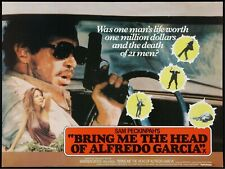 "BRING ME THE HEAD OF ALFEDO GARCIA repro uk quad poster Sam Peckinpah 30x40"""
