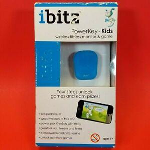 Ibitz PowerKey Kids Wireless Fitness Monitor / Activity Tracker Game Blue/White