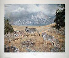 """Charles Fracé  """"Wayfarers"""" art print- Western scene with coyotes LTD ED  S/N COA"""