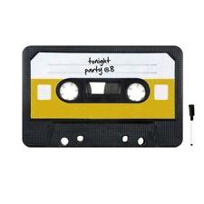 Lavagna memo board a forma di cassetta musicale stile vintage in vetro con penna
