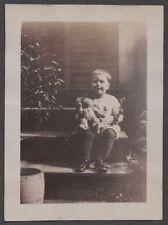VINTAGE 1929 CLEVELAND OHIO FIREMANS SON & STEIFF TOY TEDDY BEAR FASHION PHOTO