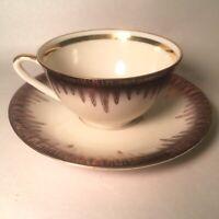 Vintage J Kronester Bavaria Porcelain Demitasse Tea / Chocolate Cup Gold Black