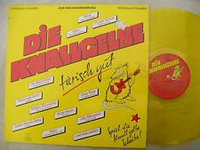 DIE KNALLGELBE LP COMPILATION near mint transparent yellow vinyl