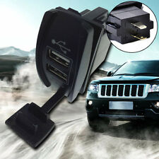 Car Auto 12-24V 3.1A Dual LED USB Power Supply Charger Port Socket Waterproof