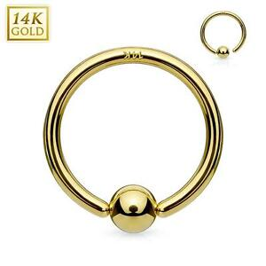 1 - 14Kt. Gold Fixed Hoop Rings Nose, Cartilage, Septum CBR Captive C267