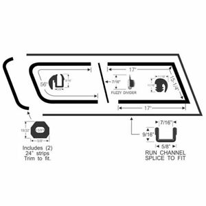1960-1966 Chevrolet GMC Suburban Front Sliding Quarter Window Glass Seal Kit