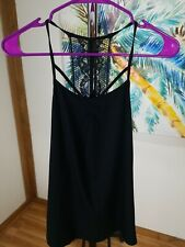 NWT Gilligan & O'Malley Women's Lace Cami Top-Black-Size-Medium