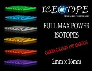 ICEATOPE 2mm x 15mm / 2MM X 16MM Isotopes Trigalight Betalight BETALIGHTS CARP