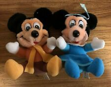 Lot of 2 Vintage 1984 Hardee's Disney Mickey's Christmas Carol Plush Stuffed Toy