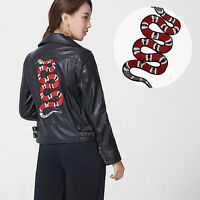 RED Snake DIY  Embroidery Sew Iron On Patch Badge Clothes Fabric Applique new