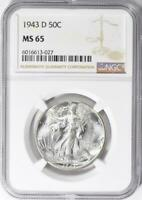1943-D Walking Liberty Half Dollar - NGC MS-65 - Mint State 65