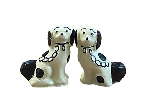 Melody Jane Dolls House Miniature Ornament Pair of Staffordshire Dogs BR
