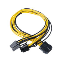 PCI Express 8 Pin Splitter Cable PCIE To 2x 8Pin / 6 + 2 Pin Dual Power Wire Y