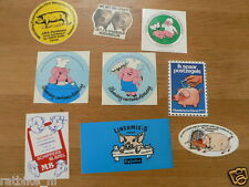 STICKER,DECALS SET ANIMALS VARKENS, PIGS LOT OF ABOUT 31 STICKERS SEE PICTURES