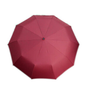 ES 10-Rib Strong Windproof Super Wide 46 Inch Automatic Folding Umbrella Outdoor