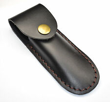 Black Leather Corkscrew Holster Waiters / Server Belt Sheath Case Holder