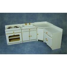Streets Ahead 12th Scale White Kitchen Unit Set for Dolls House