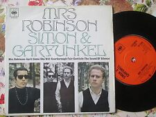 Simon & Garfunkel ‎– Mrs. Robinson CBS Records EP 6400 UK 7inch Vinyl Single EP