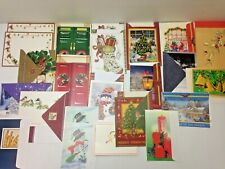 Christmas Card Lot Holiday Greetings Photo Card with Envelopes