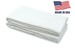 12pk USA Made Fitted Bed Sheets For Twin XL, Bunk, Dorm, And Hospital Mattresses
