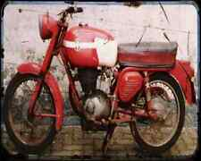 Gilera Giubileo 175 A4 Photo Print Motorbike Vintage Aged