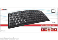 TRUST CURVE COMPACT WIRELESS KEYBOARD FOR PC, SMART TV, MEDIA CENTRE, UK LAYOUT