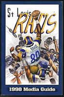 1998 St Louis Rams NFL Football Media GUIDE