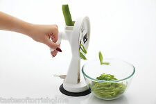 Kitchen Craft Rotary Manual Table Top Runner Green Bean Slicer & Suction Base