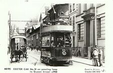 Transport Postcard - Exeter Car - On Passing Loop in Queen Street c1905 - A1752